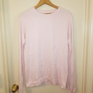 Pink knit Lululemon long sleeve top, large